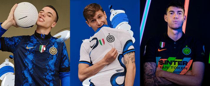 camiseta de la primera, segunda y tercera equipación 2021 2022 Inter de Milan, para adulto.