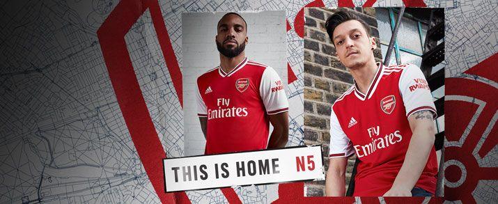 Camiseta de la primera equipación infantil 2020 Arsenal, en color rojo, que se combina con el blanco.