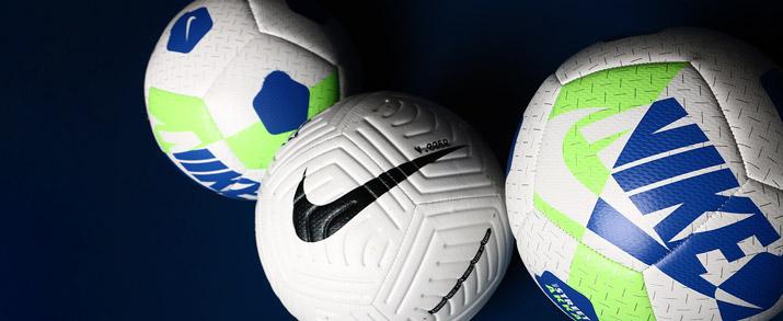 Balón de fútbol sala marca Nike color blanco con detalles azules