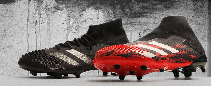 botas de fútbol adidas 2020 predator, negra y roja