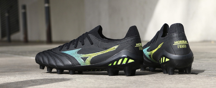 Botas de fútbol Mizuno neo, color negro.