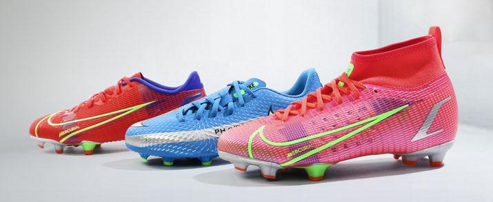Últimos modelos de botas fútbol Nike black x chile red  pack para niño