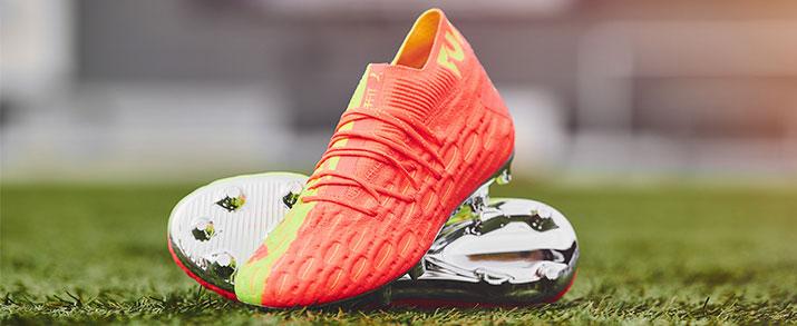 botas de fútbol Puma colección Rise pack, modelos Future color naranja.