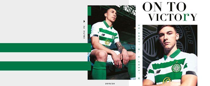 Camiseta de la primera equipación 2020 Celtic, con diseños en lineas horizontales color verde y blanco intercaladas.
