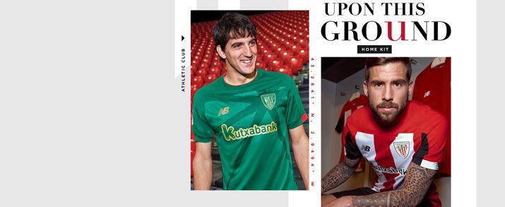 Camiseta de la primera y segunda equipación infantil 2020, la primera equipación con las clásicas lineas verticales en blanco y rojo intercalados, la segunda equipación de color verde oscuro con unos diseño en dorado.