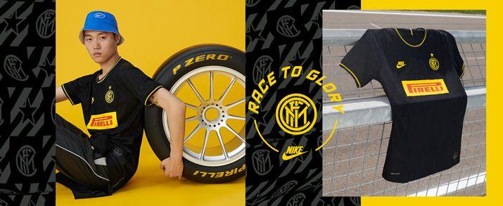 Camiseta de la tercera equipación infantil 2020 Inter de Milan, camiseta en color negro con pequeños detalles en color amarillo, inspirado en el principal patrocinador del club, Pirelli. Swoosh de Nike sportswear y escudo del Inter de Milán bordados.