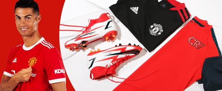 Bodegón de productos del jugador del Manchester United Cristiano Ronaldo