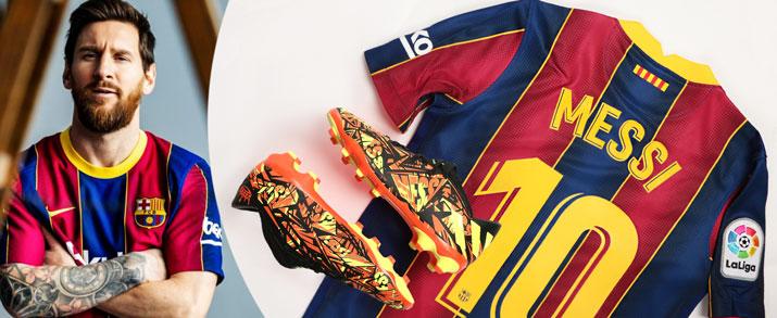 Bodegón de productos del jugador de FC Barcelona Leonel Messi