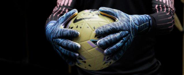 Guantes Nike cloor azules oscuros con textura