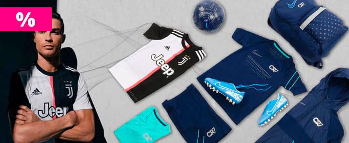 Rebajas bodegón de productos del jugador de Juventus Cristiano Ronaldo