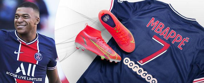 Bodegón de productos del jugador de PSG Kylian Mbappé