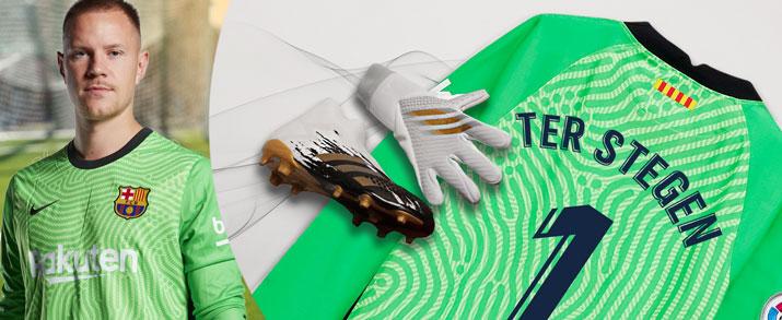 Bodegón de productos del jugador de FC Barcelona Ter Stegen