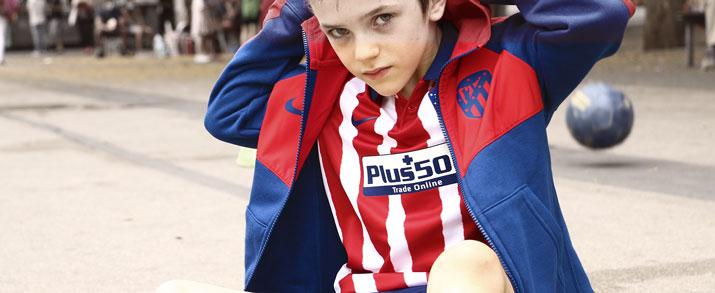 Ropa fútbol de calle infatil del equipo Atlético del Madrid