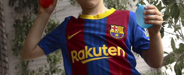 Ropa de fútbol calle para niño del equipo FC Barcelona