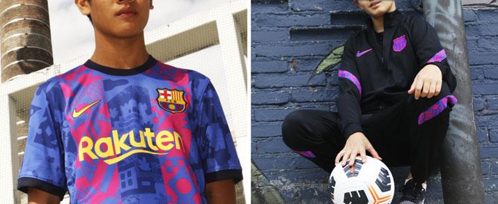 Ropa de fútbol calle para niño del equipo FC Barcelona temporada 2021 2022