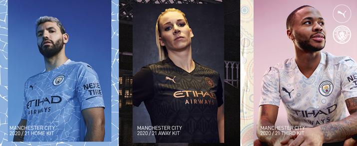 camiseta de la primera, segunda y tercera equipación adulto 2021 Manchester City