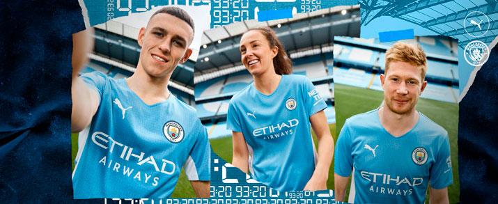 camiseta de la primera equipación adulto 2021-2022 Manchester City