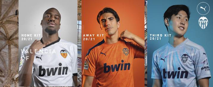 Camiseta de la primera equipación 2020-2021 Valencia, de color blanco.