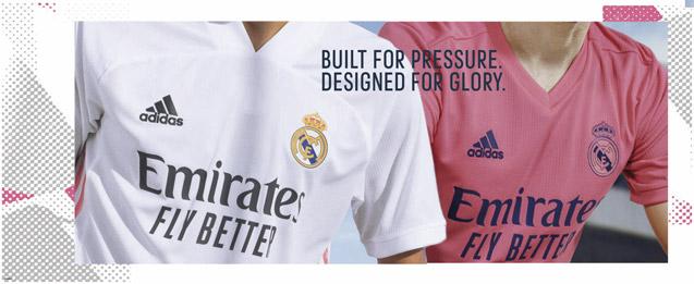 Camiseta de la primera equipación Real Madrid 2021, novedoso diseño en color rosa.