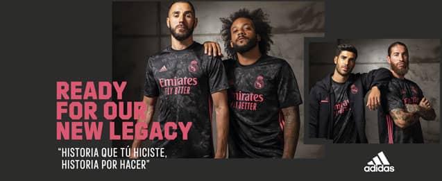 Encuentra las nuevas equipaciones del Real Madrid, para la temporada 2020 - 2021, todo lo que necesitas lo encuentras en futbolmania.