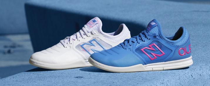 zapatillas sala New Balance Audazo color blancas y azules